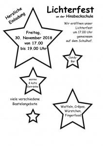 Lichterfest, Plakat 2018 Kopie