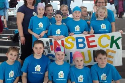 Schwimmstaffel der Hinsbeckschule erfolgreich