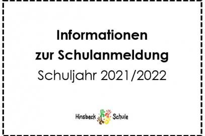 Wichtige Informationen zur Schulanmeldung